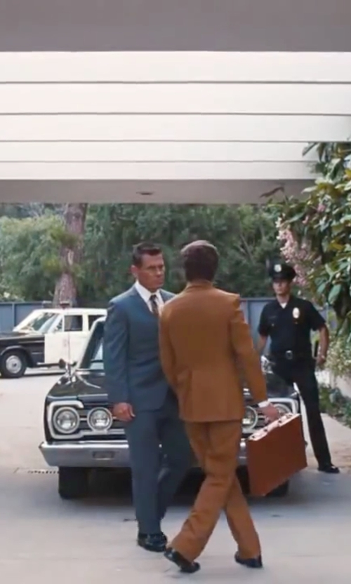 Josh Brolin with Edward Green Ashby Monks Loafer Shoes in Inherent Vice