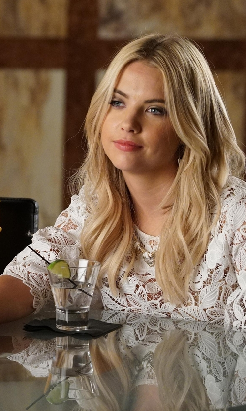 Ashley Benson with Alexis Valery Bell Sleeve Crop Top in Pretty Little Liars