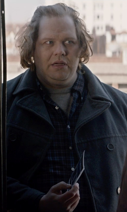 Ólafur Darri Ólafsson with Strellson Double Breasted Car Coat in A Walk Among The Tombstones