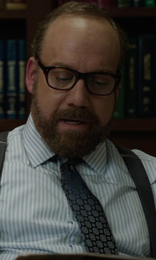 Paul Giamatti with Saks Fifth Avenue Flower Medallion Silk Tie in Billions