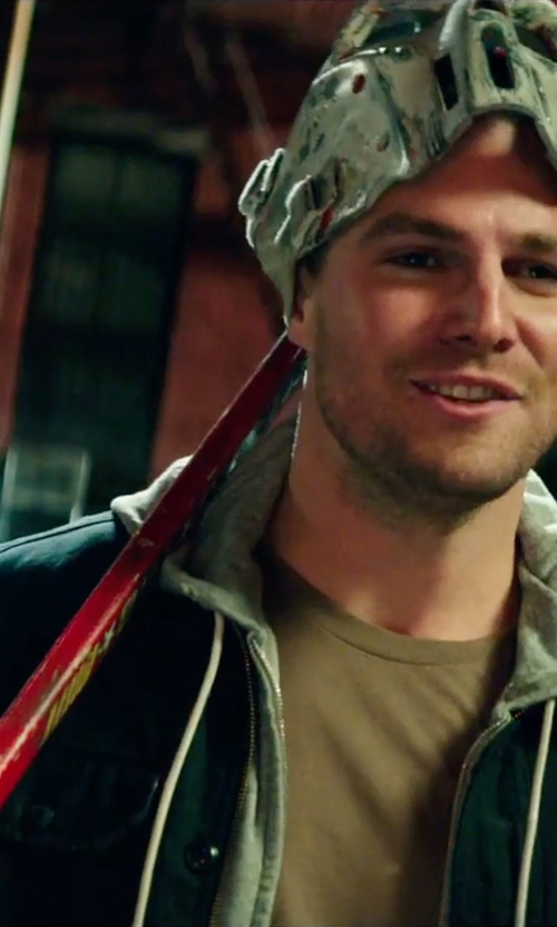 Stephen Amell with Michael Kors Field Coat in Teenage Mutant Ninja Turtles: Out of the Shadows