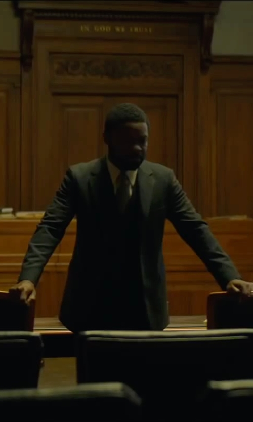 David Oyelowo with Dolce & Gabbana Waistcoat Suit Vest in A Most Violent Year