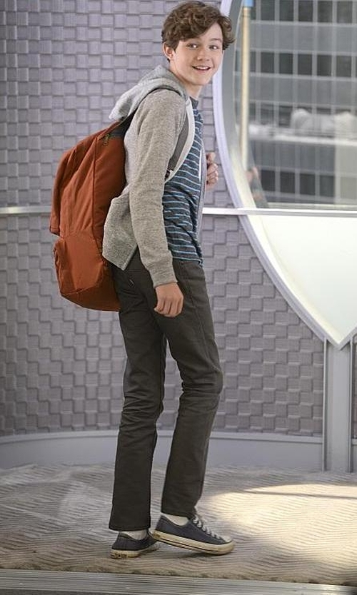 Levi Miller with State Kane Backpack in Supergirl
