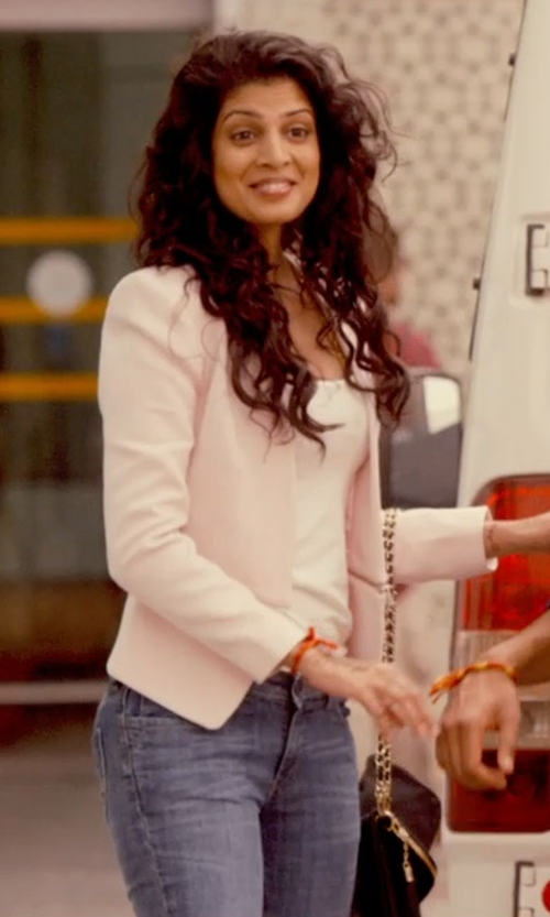 Tena Desae with Lanvin Private Studded Clutch Bag in The Second Best Exotic Marigold Hotel