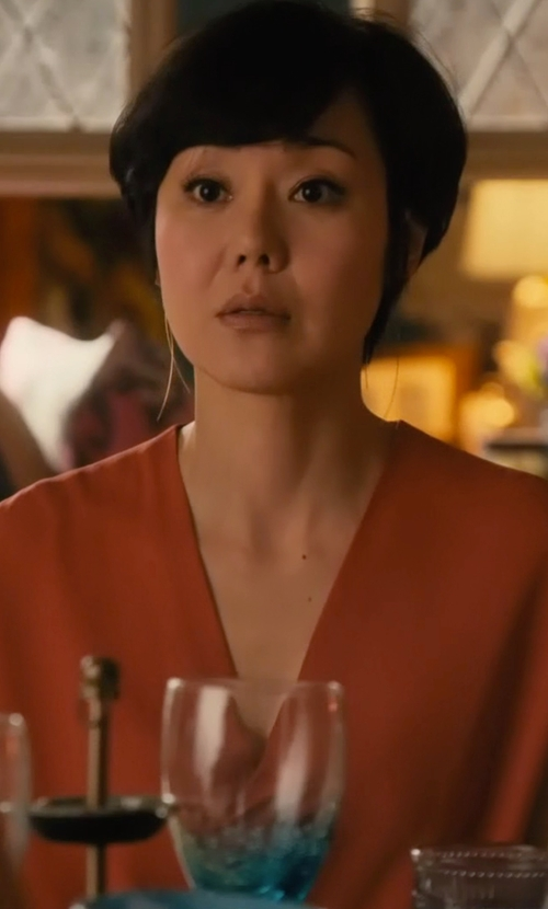 Yunjin Kim with River Island Wrap Front Sleeveless Blouse in Mistresses
