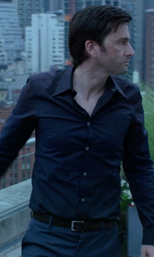 David Tennant with Johnston & Murphy Dress Belt in Jessica Jones