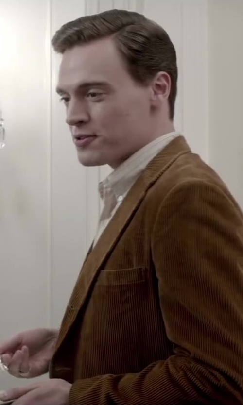 Erich Bergen with Brooks Brothers Fitzgerald Fit Corduroy Sport Coat in Jersey Boys