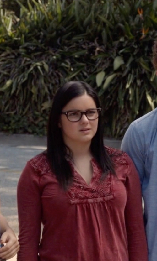 Ariel Winter with Lucky Brand Lace Placket Top in Modern Family