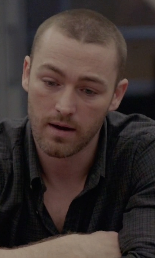 Jake McLaughlin with Ami Micro-Checked Cotton Shirt in Quantico