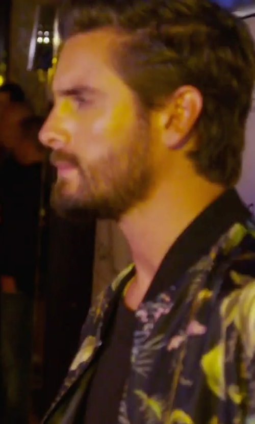 Scott Disick with Gucci Tropical Print Silk Jacket in Keeping Up With The Kardashians