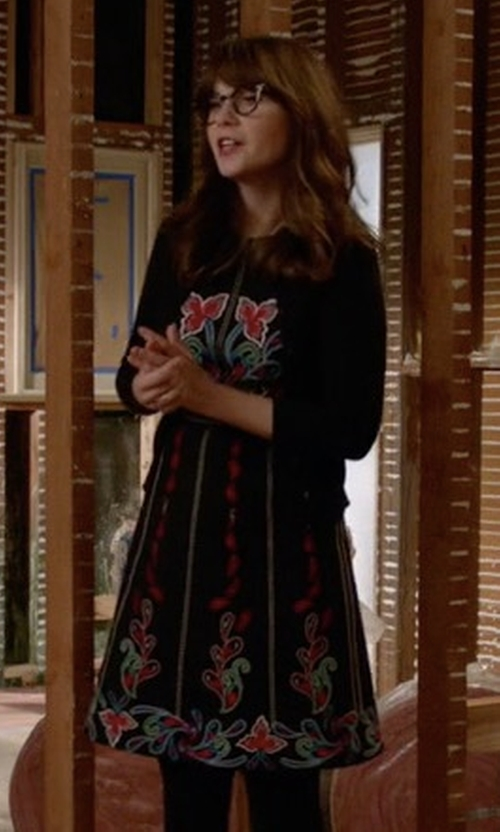 Zooey Deschanel with Maeve Chennai Dress in New Girl
