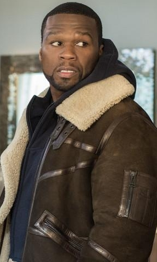 50 Cent with Palm Angels Maxi Pullover Zip Hoodie in Power
