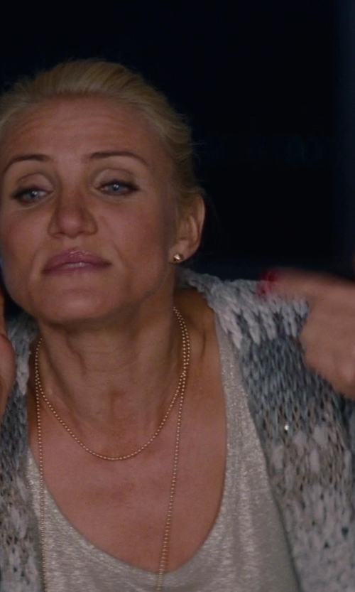 Cameron Diaz with Marni Gold-tone Hardware Cuff in The Other Woman