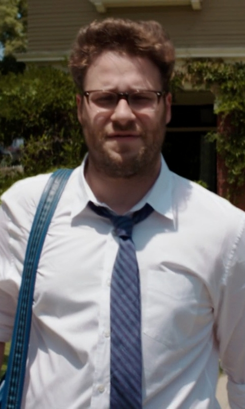 Seth Rogen with Nautica Men's Regatta Stripe II Tie in Neighbors