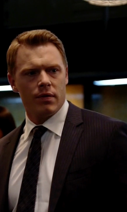 Diego Klattenhoff with BOSS 'Johnstons/Lenon' Trim Fit Stripe Wool Suit in The Blacklist