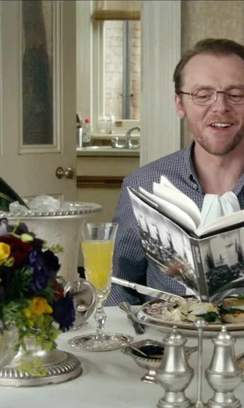 Simon Pegg with Moët & Chandon Imperial Champange in Absolutely Anything
