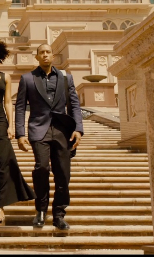 Ludacris with Cole Haan Cambridge Plain Oxford Shoes in Furious 7
