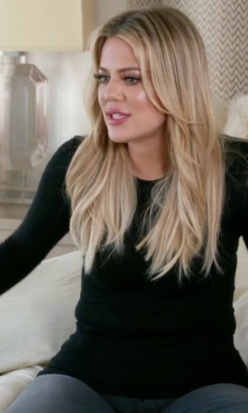 Khloe Kardashian with Splendid 1x1 Crew Neck Tee in Keeping Up With The Kardashians