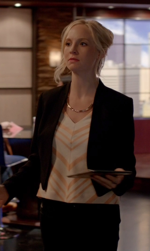 Unknown Actor with Lulu's Business Trip Black Cropped Blazer in The Vampire Diaries
