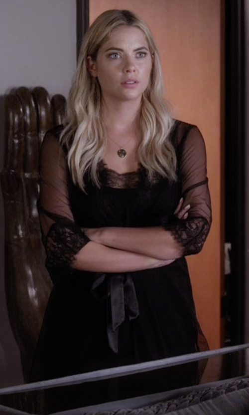 Ashley Benson with L'Agent By Agent Provocateur Idalia Short Robe in Pretty Little Liars
