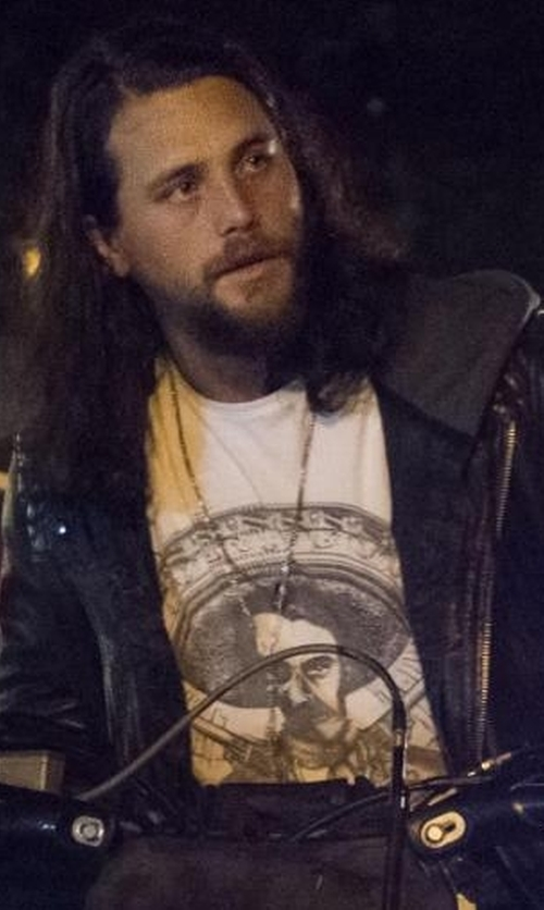 Ben Robson with The Kooples Mexican Skullhead Print T-Shirt in Animal Kingdom