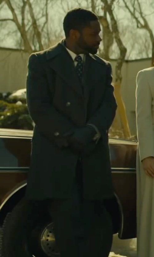David Oyelowo with Corneliani Cotton Linen Dress Shirt in A Most Violent Year