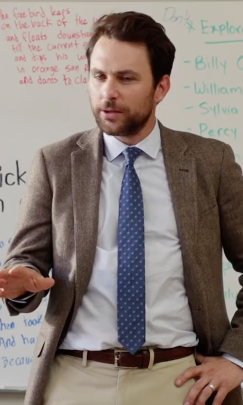 Charlie Day with Saks Fifth Avenue Collection Polished Leather Belt in Fist Fight