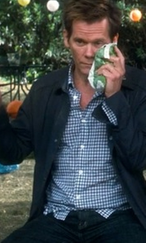 Kevin Bacon with Kenneth Cole New York Men's Check Shirt in Crazy, Stupid, Love.