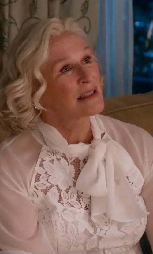 Glenn Close with Lioness Falling For Florence Lace Dress in Bastards