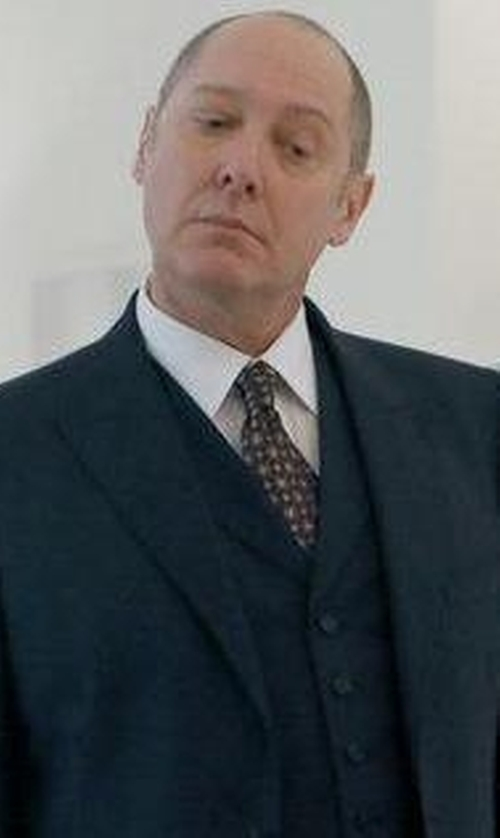 James Spader with Kiton Printed Silk Tie in The Blacklist