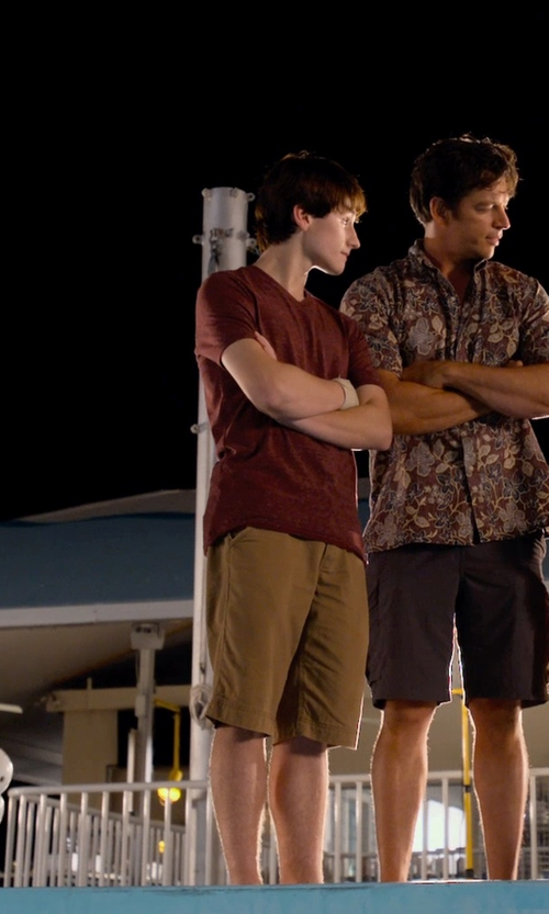 Nathan Gamble with Volcom Boys 8-20 Frickin Modern Stretch Short in Dolphin Tale 2