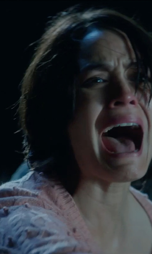 Shannyn Sossamon with Asos Vila Cable Knit Crew Neck Sweater in Sinister 2
