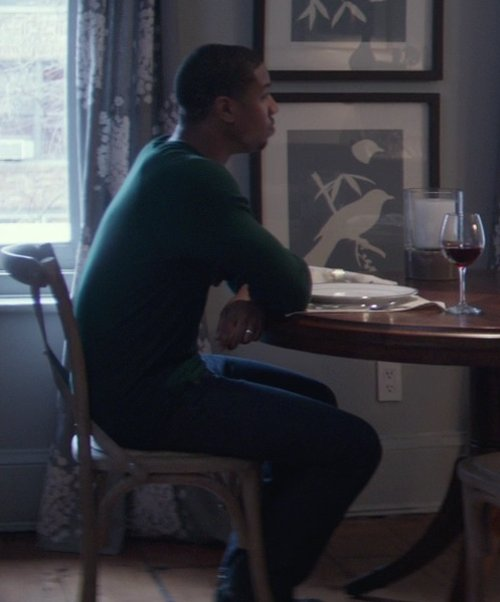Michael B. Jordan with Agave Denim Pragmatist Redding Supima Pants in That Awkward Moment