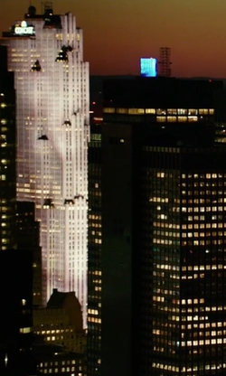 Unknown Actor with Comcast Building New York City, New York in Ghostbusters (2016)