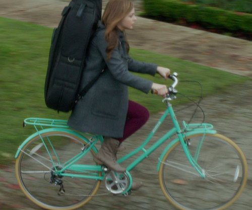 Chloë Grace Moretz with Biria Citibike 8 Speed Step-Through Bicycle in If I Stay