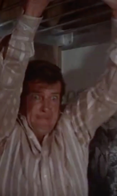 Roger Moore with Van Laack Radici Slim Fit Shirt in The Spy Who Loved Me
