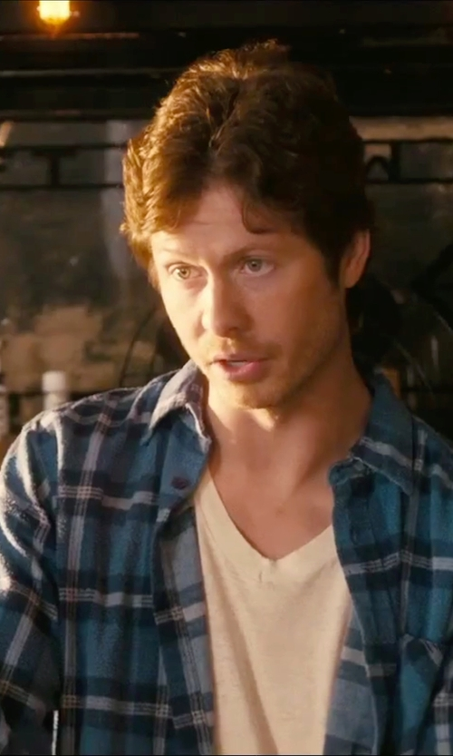 Anders Holm with Ben Sherman Trim Fit Check Woven Shirt in How To Be Single
