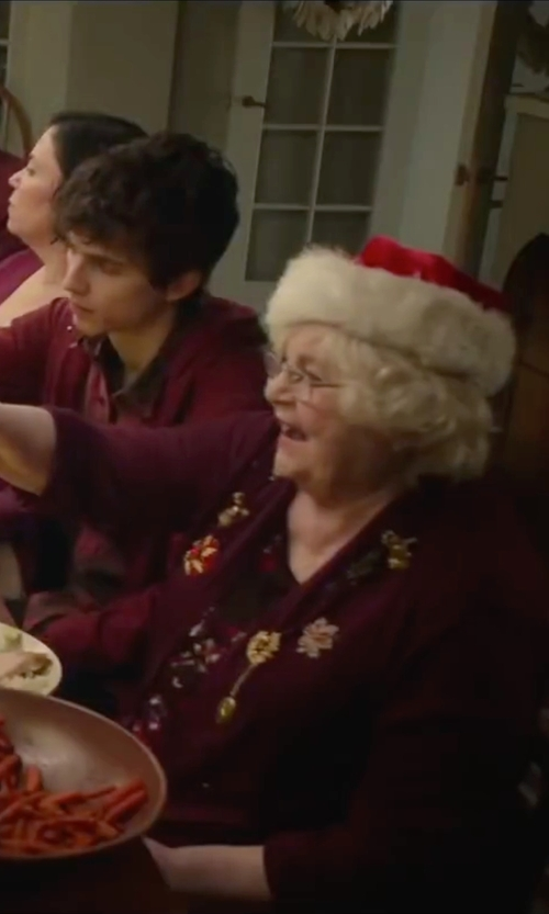 June Squibb with Nordstrom Collection Open Front Cashmere Cardigan in Love the Coopers