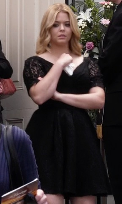 Sasha Pieterse with Temperley London  Silk Dress in Pretty Little Liars