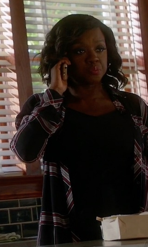 Viola Davis with Rails Hunter Button Down Shirt in How To Get Away With Murder