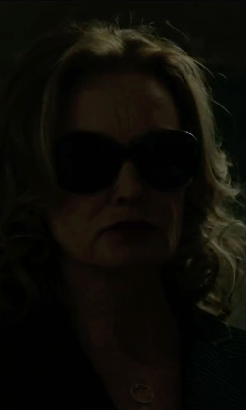 Jessica Lange with Tom Ford Eyewear Islay Round Sunglasses in The Gambler