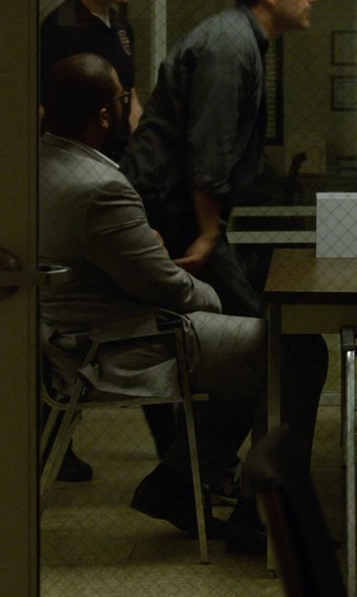 Tyler Perry with Lauren by Ralph Lauren Suits in Light Grey Solid in Gone Girl
