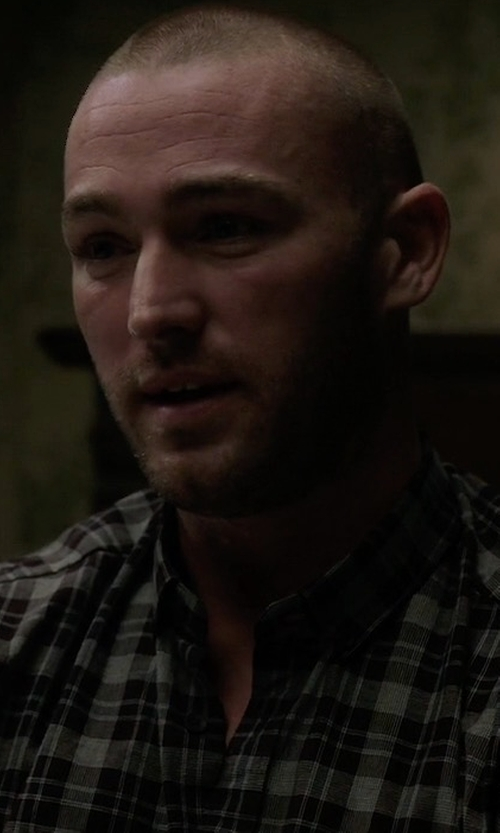 Jake McLaughlin with Belstaff Samuel Check Flannel Long-Sleeve Shirt in Quantico