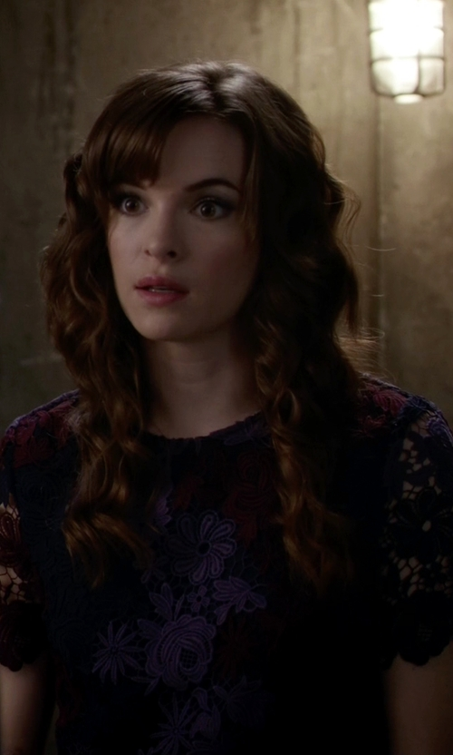 Danielle Panabaker with 424 Fifth Chemical Lace Shirt in The Flash