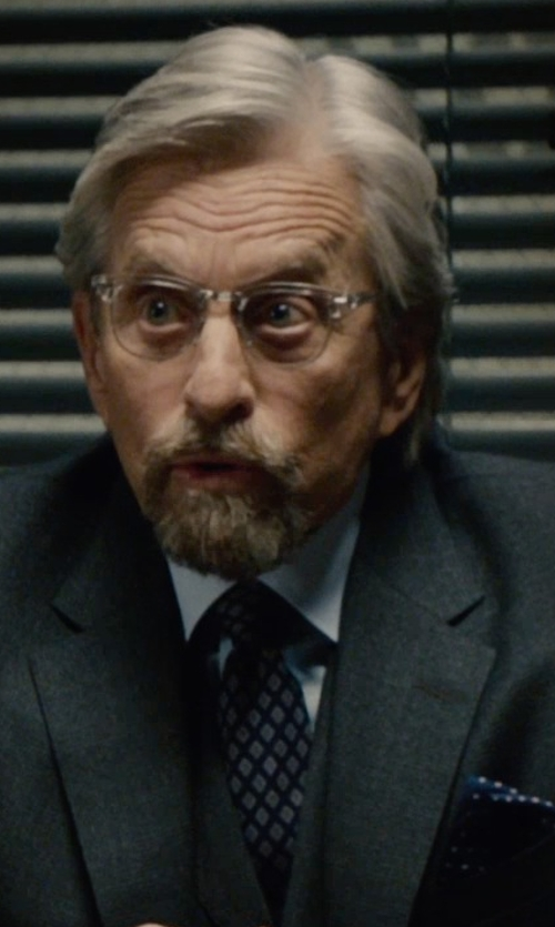 Michael Douglas with John Varvatos Repeating Diamond Classic Tie in Ant-Man