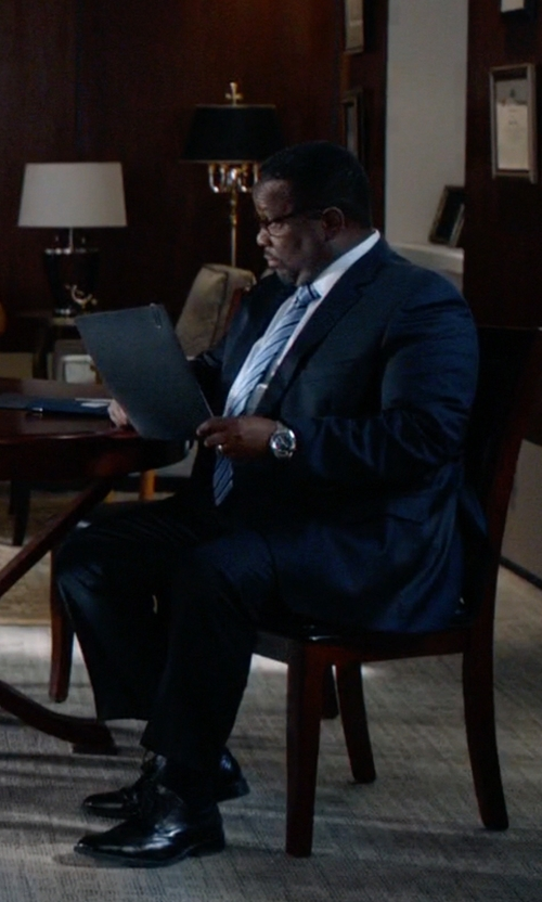 Wendell Pierce with Emporio Armani Stainless Steel Bracelet Watch in Suits