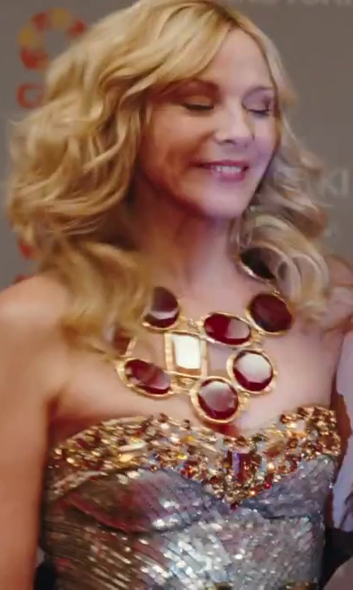 Kim Cattrall with Noir Jewelry Statement Necklace in Sex and the City 2