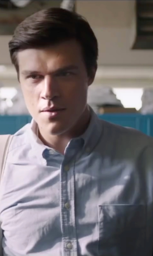 Finn Wittrock with Van Heusen Solid Short-Sleeve Dress Shirt in My All American