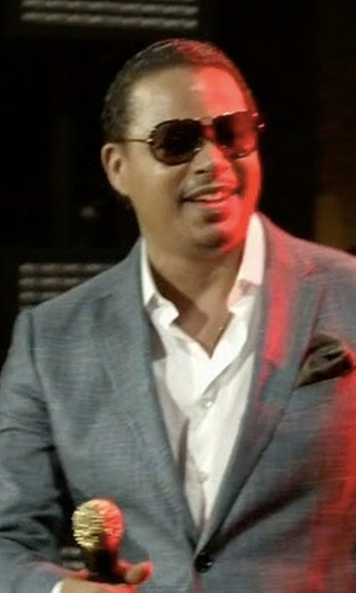 Terrence Howard  with Gucci Metal Aviator Sunglasses in Empire
