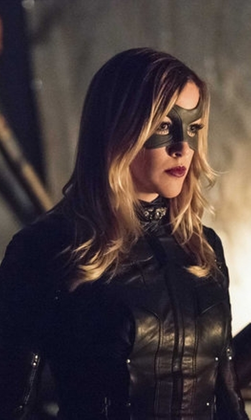 Katie Cassidy with Maya Mani (Costume Designer) Custom Made 'Black Canary' Costume in Arrow